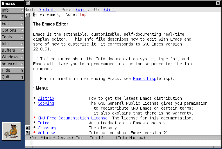 Emacs.app browsing the manual